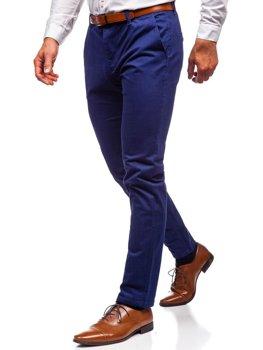 Kobaltové pánské chino kalhoty Bolf 1120