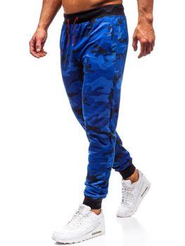 Kobaltové pánské maskáčové teplákové jogger  Bolf MK19