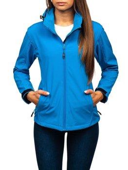 Modrá dámská přechodová softshellová bunda Bolf B056