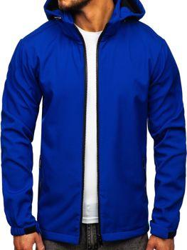 Modrá pánská softshellová přechodová bunda Bolf 56008