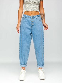 Modré dámské džíny slouchy Bolf BS583