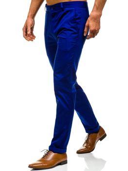 Modré pánské chino kalhoty Bolf 0204