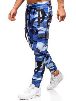 Modré pánské jogger kapsáče Bolf 11105