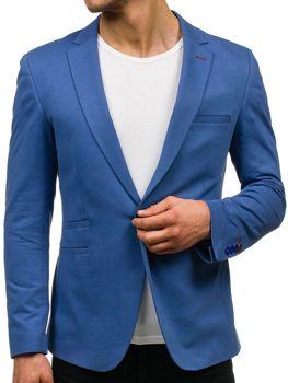 Modré pánské ležérní sako Bolf P002