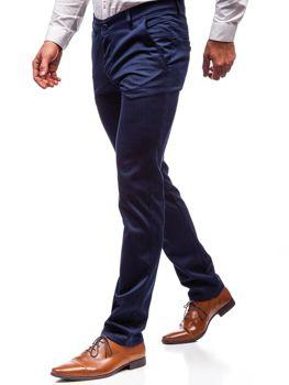 Modré pánské společenské kalhoty Bolf 7623