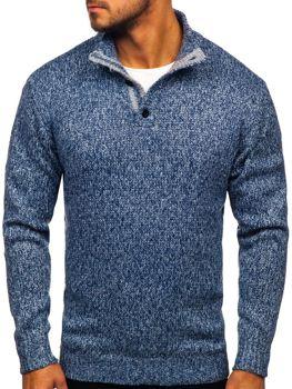 Modrý pánský svetr Bolf P086