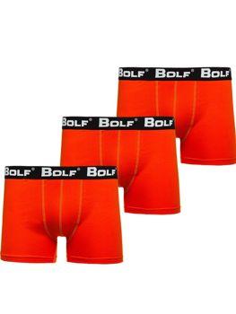 Oranžové pánské boxerky Bolf 0953-3P 3 PACK