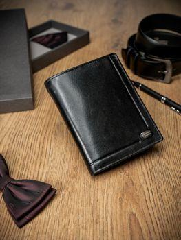 Pánská černá kožená peněženka 170