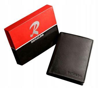 Pánská černá kožená peněženka 612