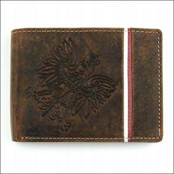Pánská hnědá kožená peněženka 675