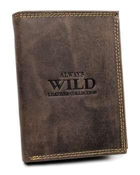 Pánská hnědá kožená peněženka 7927