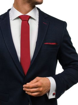 Pánská sada kravata, manžetové knoflíčky, vínový kapesníček Bolf KSP01
