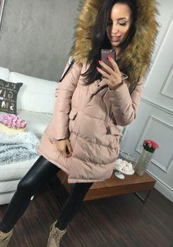 Pudrově růžová dámská zimní bunda Bolf 8065