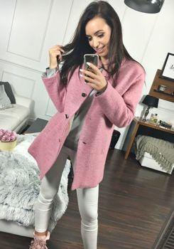 Růžový dámský kabát Bolf 1950