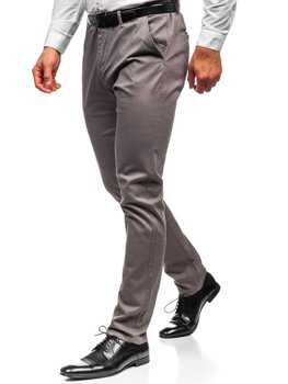 Šedé pánské chino kalhoty Bolf KA968