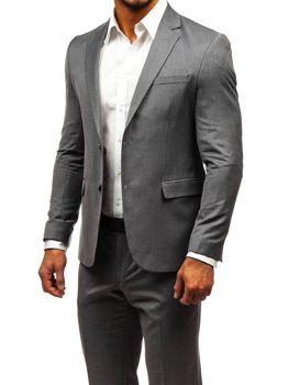 Šedý pánský oblek Bolf 172000-1