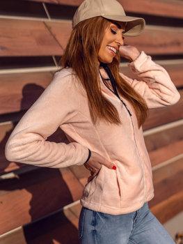 Světle růžová dámská fleecová mikina Bolf HH002