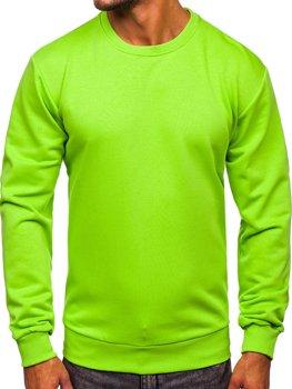 Světle zelená pánská mikina bez kapuce Bolf 171715