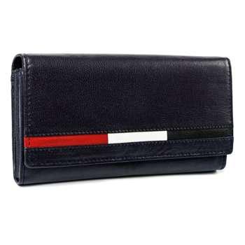 Tmavě modrá dámská kožená peněženka 7196