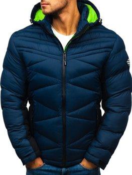 Tmavě modrá pánská sportovní zimní bunda Bolf AB121