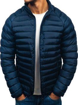 1ea97f00a0 Tmavě modrá pánská sportovní zimní bunda Bolf SM53-A