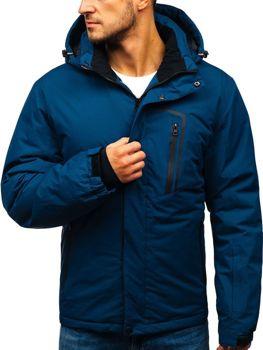 Tmavě modrá pánská zimní lyžářská bunda Bolf HZ8107