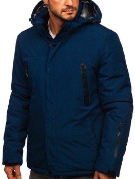 Tmavě modrá pánská zimní lyžařská sportovní bunda Bolf 9801