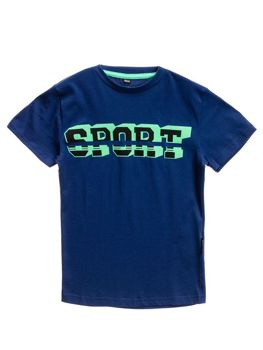 Tmavě modré chlapecké tričko s potiskem Bolf T3314