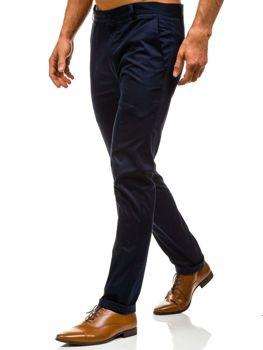 Tmavě modré pánské chino kalhoty Bolf 0204