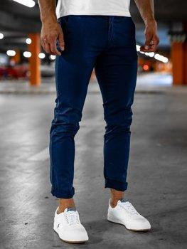 Tmavě modré pánské chino kalhoty Bolf 1146