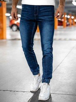 Tmavě modré pánské džínové jogger kahoty Bolf NJ55002