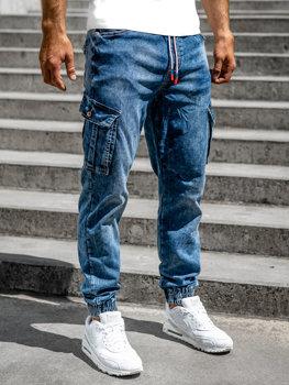 Tmavě modré pánské džínové jogger kapsáče Bolf R51007S0
