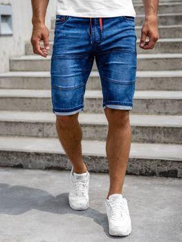 Tmavě modré pánské džínové kraťasy Bolf HY655