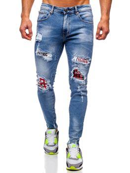 Tmavě modré pánské džíny skinny fit Bolf KA1735