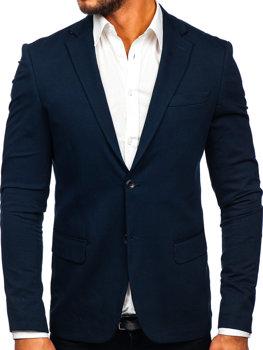 Tmavě modré pánské elegantní sako Bolf SR2003