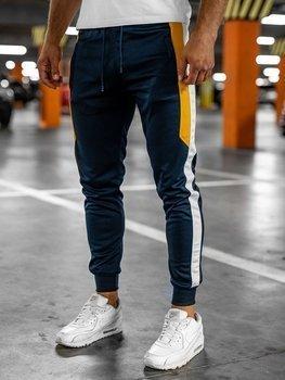 Tmavě modré pánské teplákové joggery Bolf HL8985