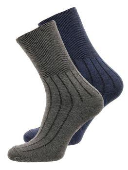 38362bb6448 Tmavě modro-šedé pánské ponožky Bolf X10014-2P 2 PACK