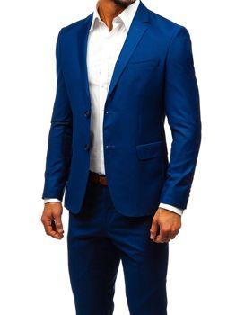Tmavě modrý pánský oblek Bolf 19100