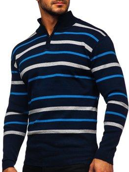 Tmavě modrý pánský svetr Bolf W05