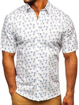 Vícebarevná-1 pánská vzorovaná košile s kratkým rukávem Bolf TSK101