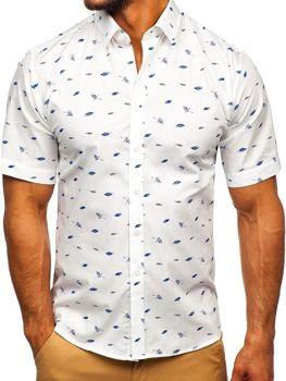 Vícebarevná-2 pánská vzorovaná košile s kratkým rukávem Bolf TSK101