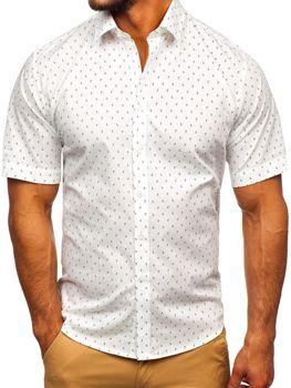 Vícebarevná pánská vzorovaná košile s kratkým rukávem Bolf TSK101