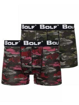 Vícebarevné pánské boxerky Bolf 0953-1P 2 PACK