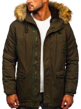 Zelená pánská zimní/jarní bunda 2v1 parka Bolf 5284