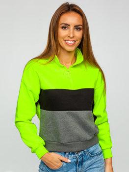 Zeleno-neonová dámská mikina Bolf KSW2021
