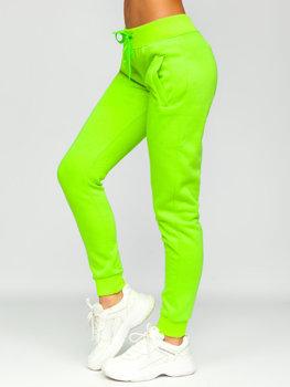 Zeleno-neonové dámské tepláky Bolf CK-01