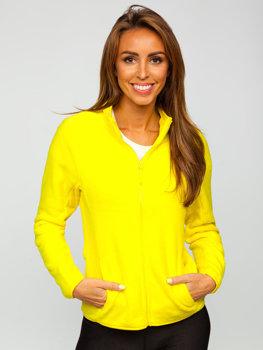 Žlutá dámská fleecová mikina Bolf HH001