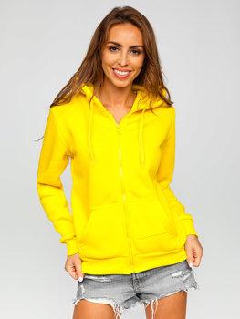 Žlutá dámská mikina s kapucí Bolf W03