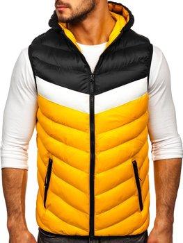 Žlutá pánská mikina na zip s kapucí Bolf HDL88004