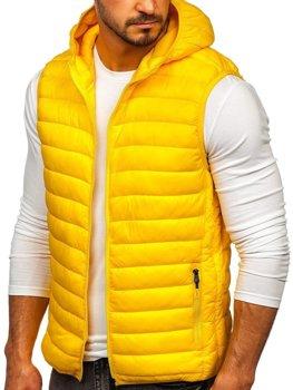 Žlutá pánská mikina na zip s kapucí Bolf LY36